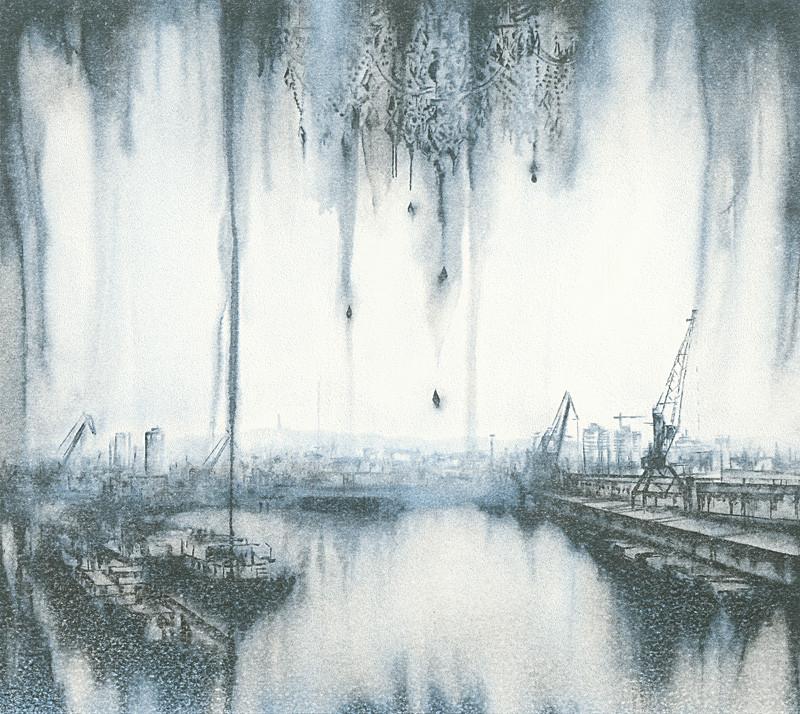 Lucia Tallová – Winter dock III., 2016, Oravská galéria