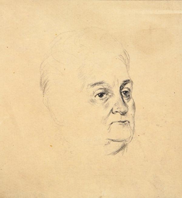Dezider Milly – Štúdia portrétu umelcovej matky