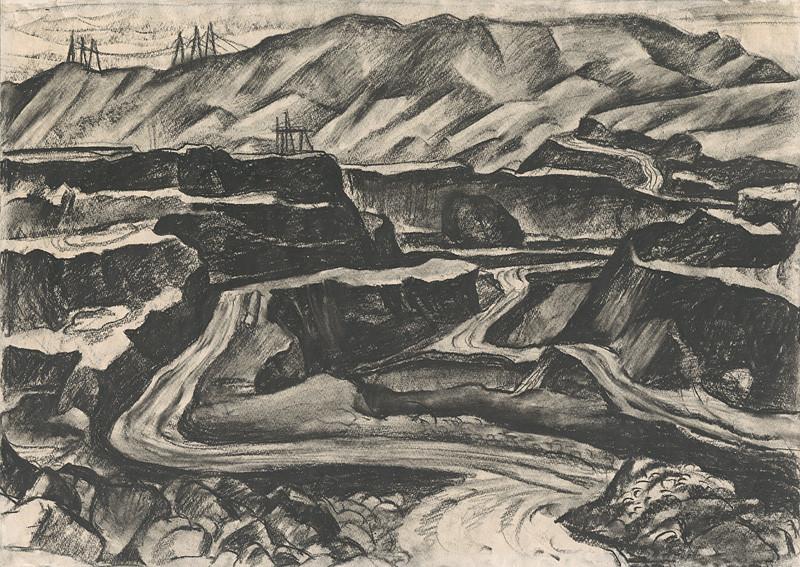 Ignác Kolčák – Stavba priehrady I., 1977, Oravská galéria