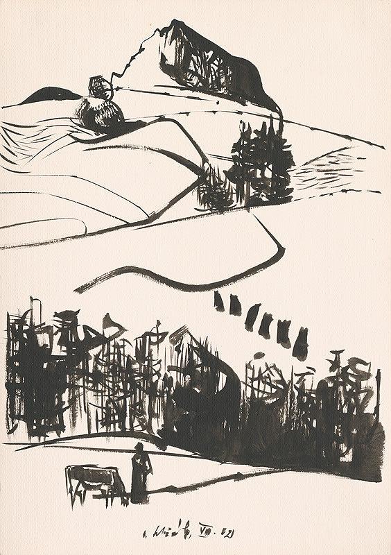 Vincent Hložník - Kresba z Oravy LXIV.