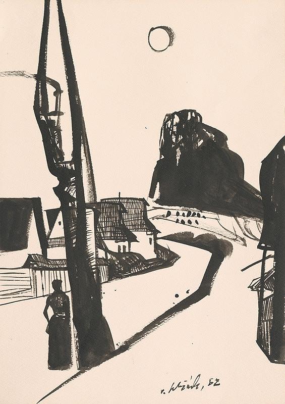 Vincent Hložník - Kresba z Oravy LXV.