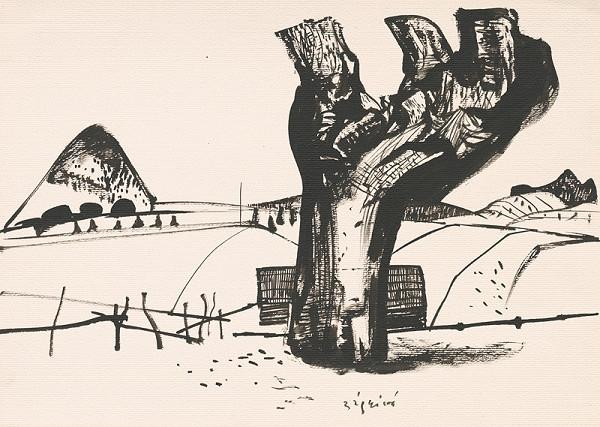 Vincent Hložník - Kresba z Oravy LXXVII.