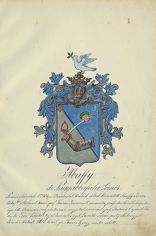 Adolf Medzihradský - Erb rodiny Abaffyovcov