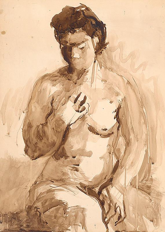 Jaroslav Kubička – Sediaci ženský akt