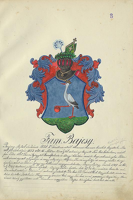 Adolf Medzihradský - Erb rodiny Bajcsyovcov