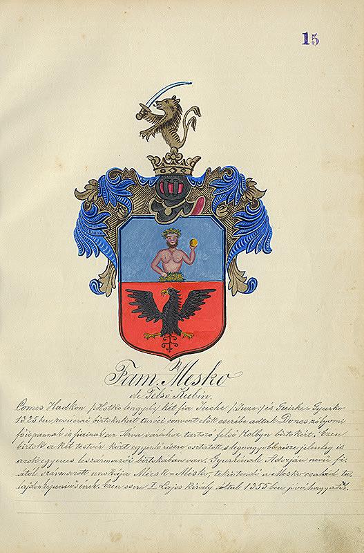 Adolf Medzihradský - Erb rodiny Meškovej
