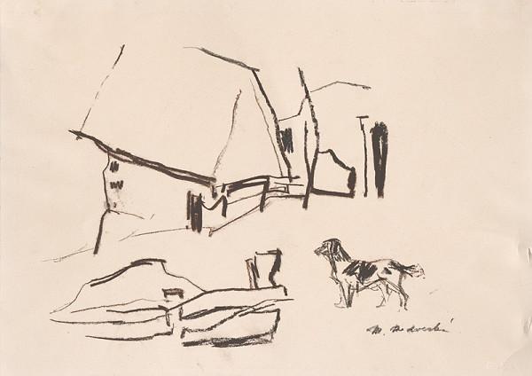 Mária Medvecká - Dvor so psom