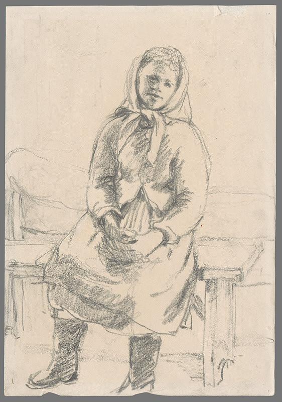 Ignác Kolčák – Dievča sediace na lavičke