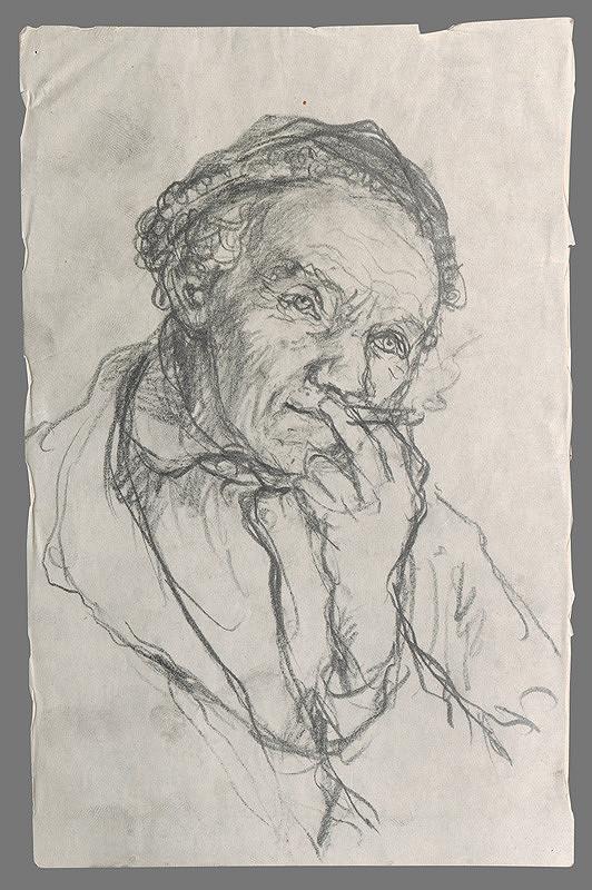 Ignác Kolčák – Štúdia fajčiaceho starca