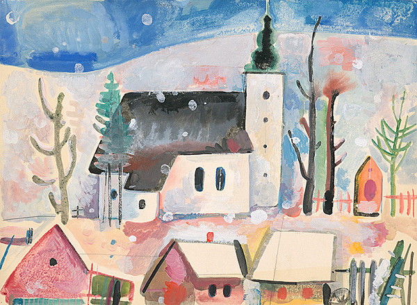 Vladimír Kompánek - Zimná dedina