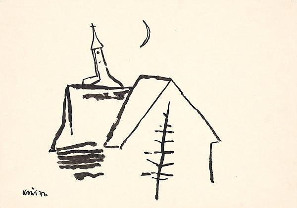 Fero Kráľ – Oravská Polhora. Kresba z Oravy XVI.