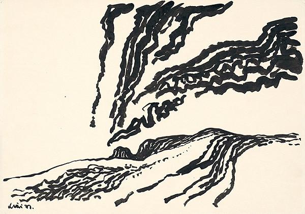 Fero Kráľ - Oravská Polhora. Kresba z Oravy XVII.