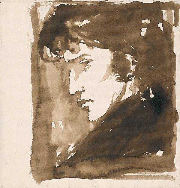 Ernest Špitz - Mužský portrét III.