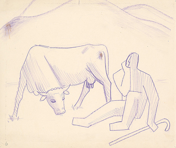 Mikuláš Galanda – Pastier s kravou