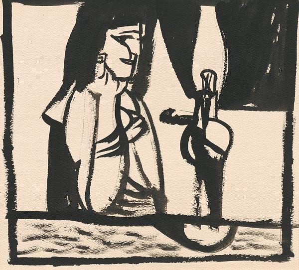 Vincent Hložník - Žena s petrolejkou