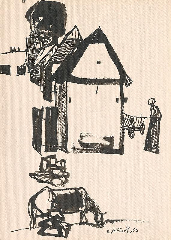 Vincent Hložník – Kresba z Oravy I.