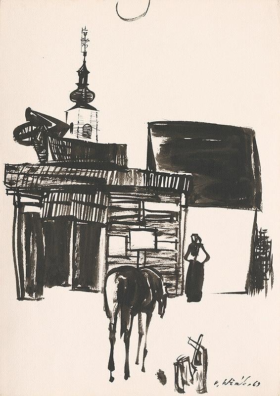 Vincent Hložník - Kresba z Oravy III.