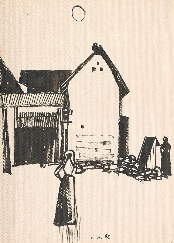 Vincent Hložník – Kresba z Oravy V.