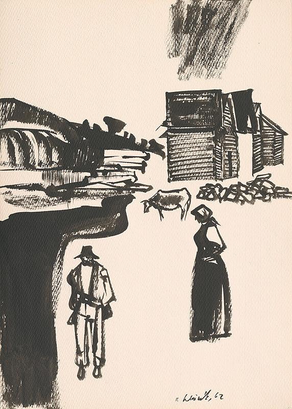 Vincent Hložník – Kresba z Oravy VI.
