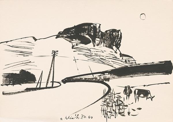 Vincent Hložník - Kresba z Oravy VII.