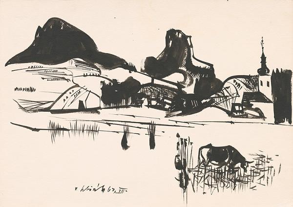 Vincent Hložník – Kresba z Oravy VIII.
