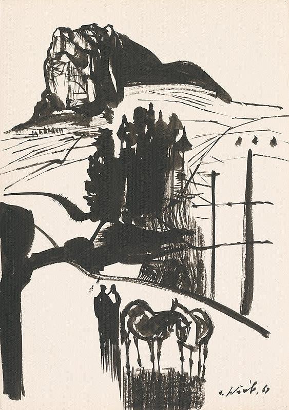 Vincent Hložník - Kresba z Oravy IX.