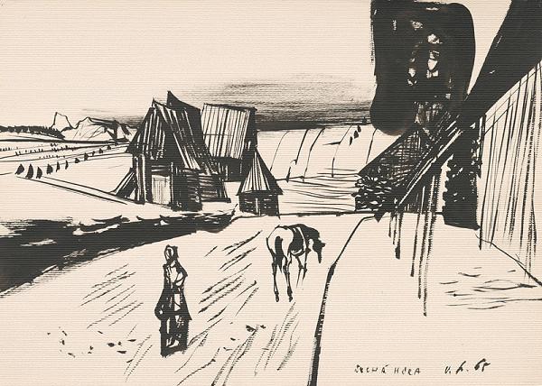 Vincent Hložník - Kresba z Oravy XII.
