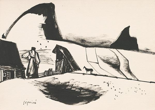 Vincent Hložník – Kresba z Oravy XIII.