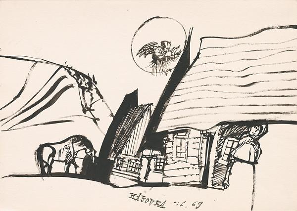 Vincent Hložník - Kresba z Oravy XV.