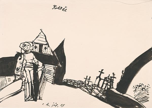 Vincent Hložník - Kresba z Oravy XVI.