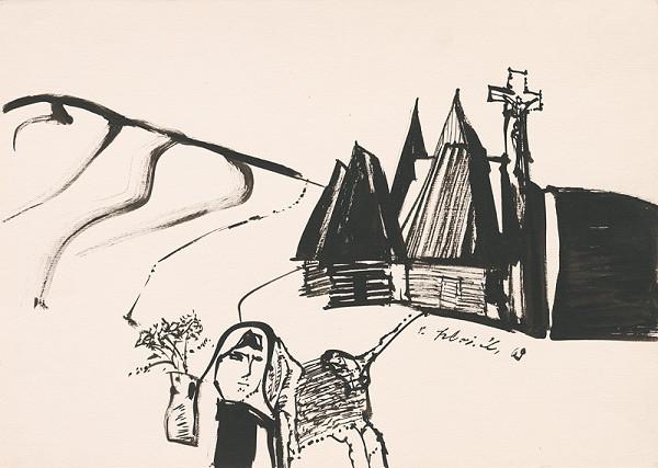 Vincent Hložník – Kresba z Oravy XVII.