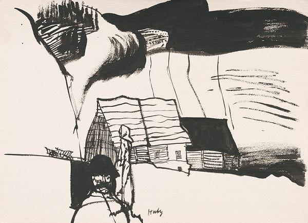 Vincent Hložník - Kresba z Oravy XIX.