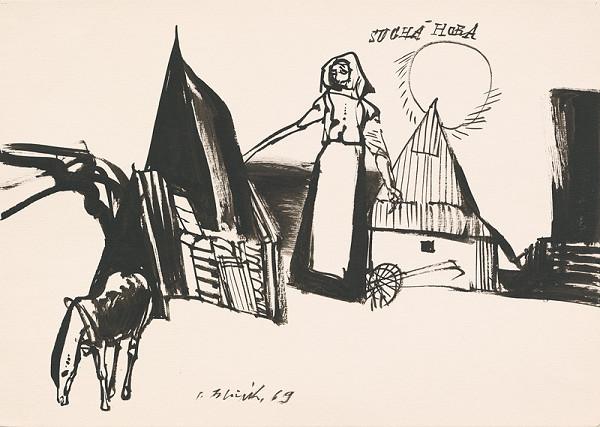 Vincent Hložník – Kresba z Oravy XX.