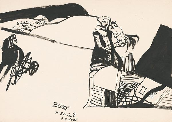Vincent Hložník - Kresba z Oravy XXV.