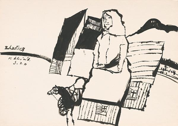 Vincent Hložník – Kresba z Oravy XXVIII.