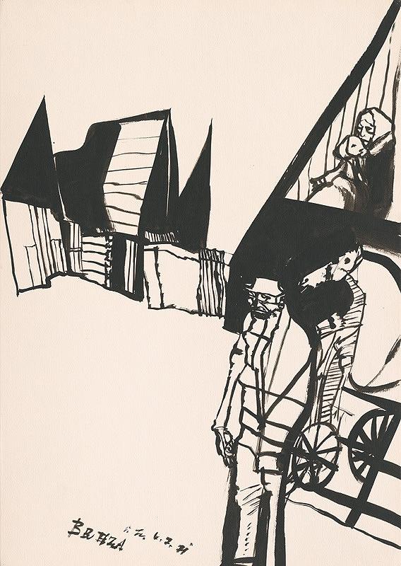 Vincent Hložník – Kresba z Oravy XXXI.