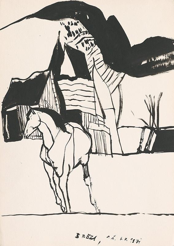 Vincent Hložník - Kresba z Oravy XXXII.