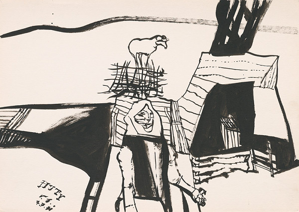 Vincent Hložník – Kresba z Oravy XXXIII.