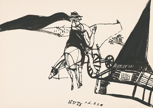 Vincent Hložník - Kresba z Oravy XXXVI.
