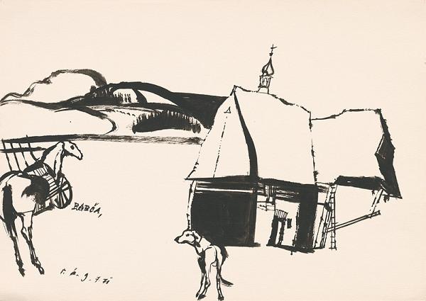Vincent Hložník – Kresba z Oravy XXXVII.