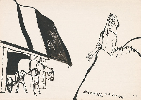 Vincent Hložník – Kresba z Oravy XXXVIII.