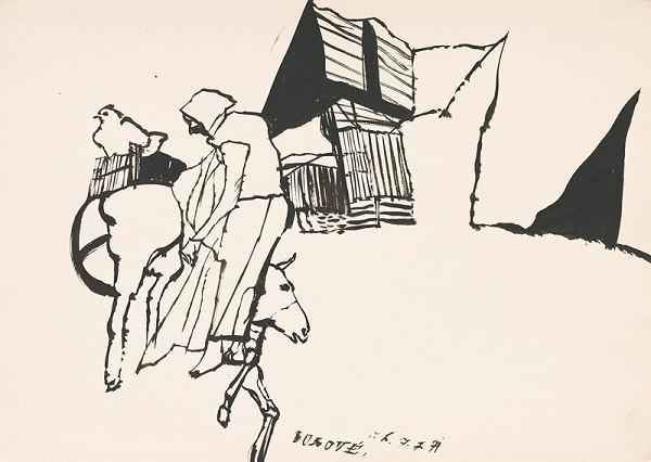 Vincent Hložník - Kresba z Oravy XXXIX.