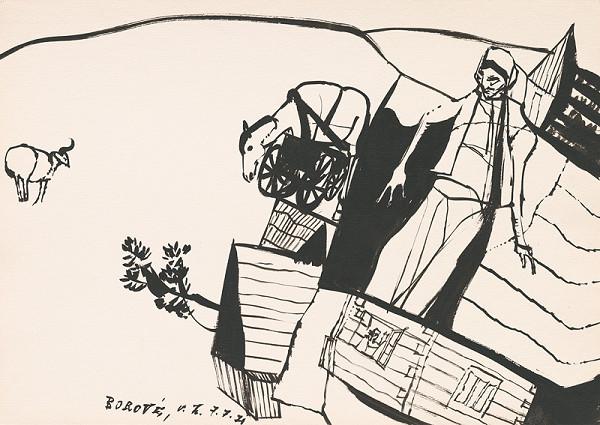 Vincent Hložník - Kresba z Oravy XL.