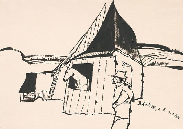 Vincent Hložník - Kresba z Oravy XLII.