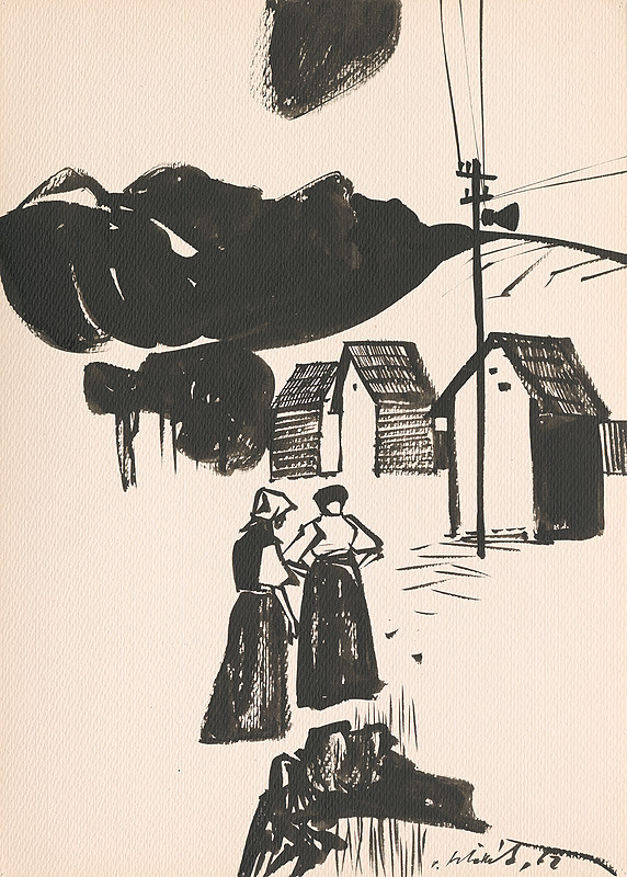 Vincent Hložník – Kresba z Oravy XLIX.