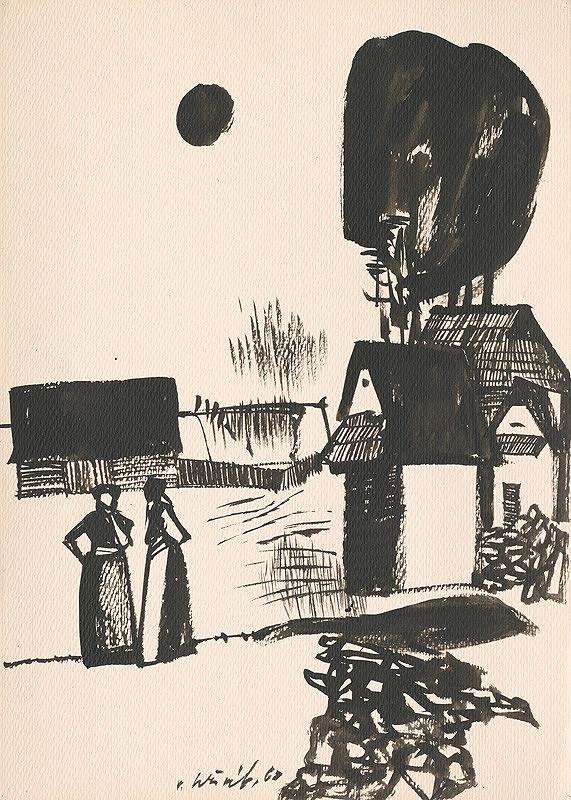 Vincent Hložník - Kresba z Oravy L.