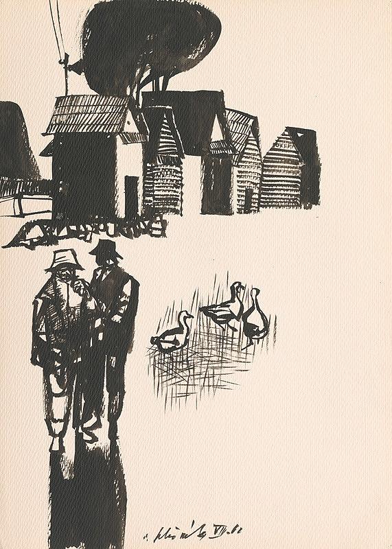 Vincent Hložník - Kresba z Oravy LI.