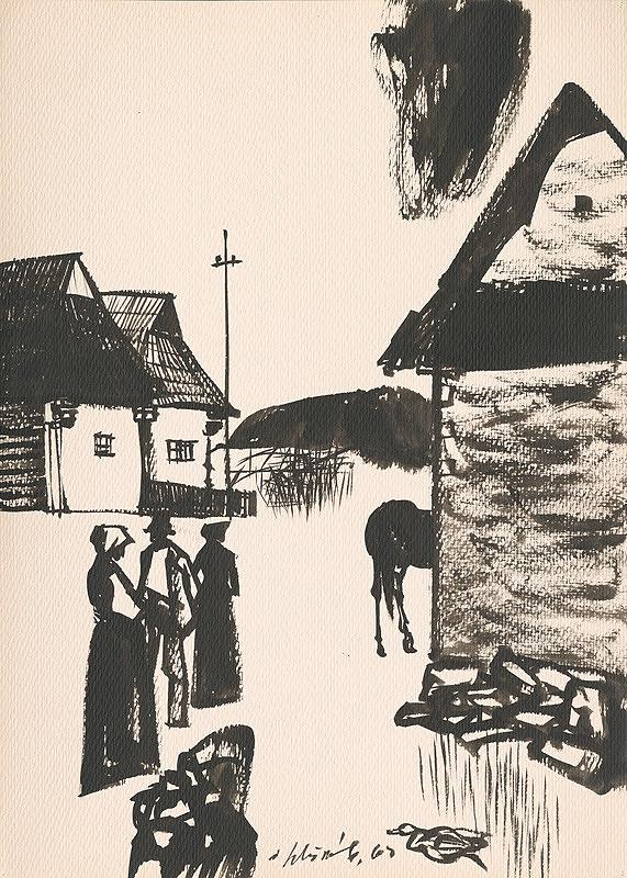 Vincent Hložník – Kresba z Oravy LII.