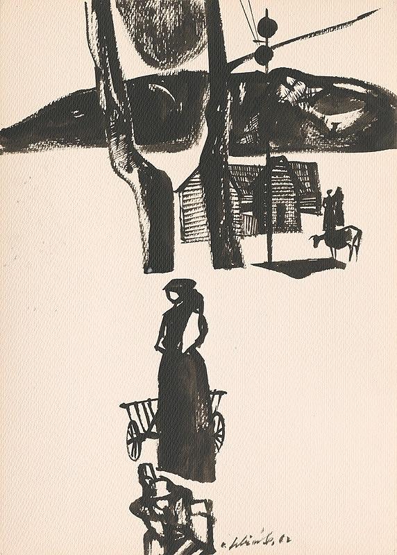 Vincent Hložník - Kresba z Oravy LIV.
