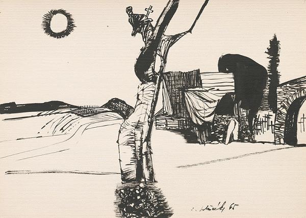 Vincent Hložník - Kresba z Oravy LVI.